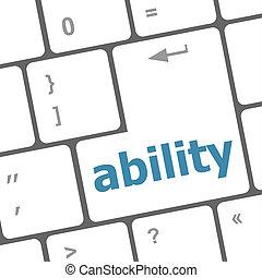 capacité, texte, moderne, il, clef informatique, clavier