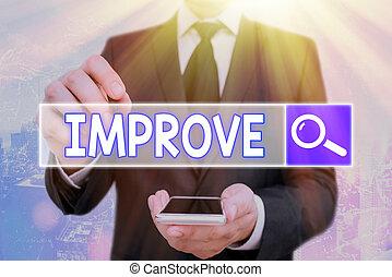 capacities, 成長しなさい, change., improve., テキスト, 意味, よりよい, 増加, 概念, 手書き, なる, 開発, 作りなさい