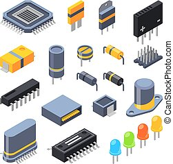 Capacitor, different chips, semiconductor and electrical...
