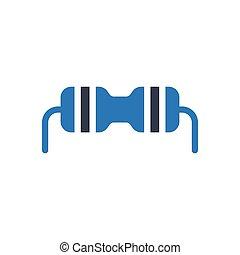 capacitor  glyph color icon
