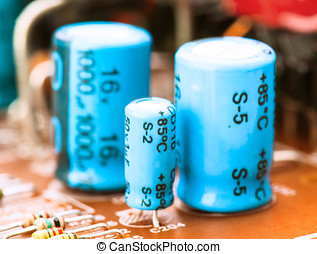 capacitors, resistors and other electronic components...