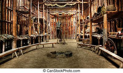 capanna, indiano, nativo
