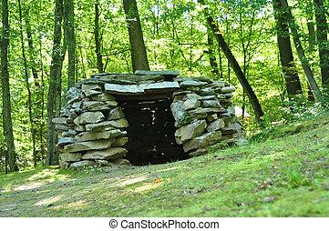 capanna, pietra