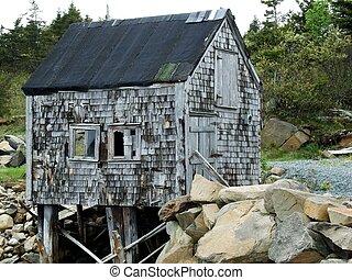 capanna, vecchio, costiero