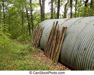 capannone, legnhe, metallo