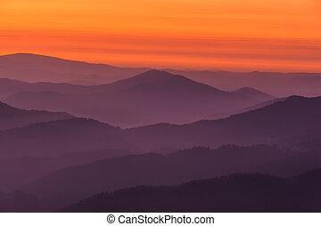capas, montaña