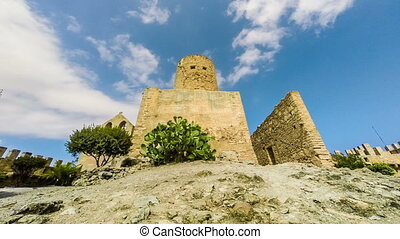 Capdepera castle tower in Mallorca island, Spain. Beautiful...