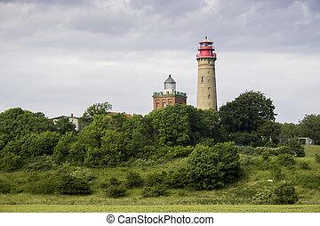 Cape Arkona Lighthouse in Rugen island