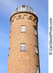 Cape Arkona lighthouse tower on the island of Ruegen. ...