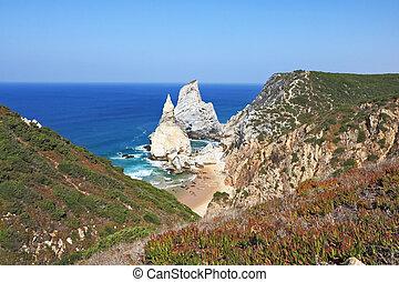 Cape Cabo da Roca. The rocks, similar to ice cream.