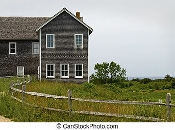 A building along the coastline of Cape Cod in Massachusetts.