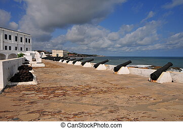 Cape Coast Castle is a fortification in Ghana built by Swedish traders for trade in timber and gold
