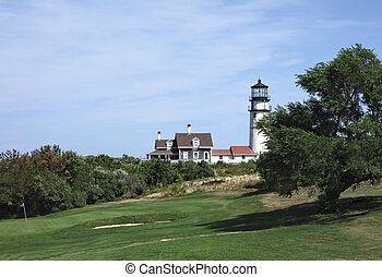 Cape Cod Lighthouse, also known as Highland Light, Truro, ...