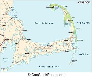 cape cod map - cape cod road map