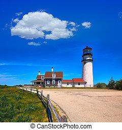 Cape Cod Truro lighthouse Massachusetts US - Cape Cod Truro...