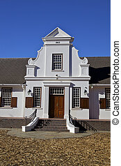 Cape Dutch Architectural in Franschhoek, famous area in Cape...