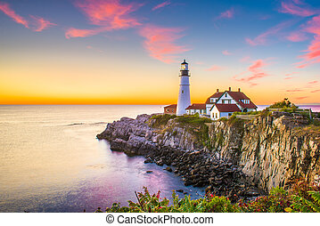 Portland Head Light - Cape Elizabeth, Maine, USA at Portland...
