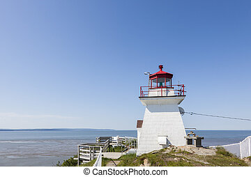 Cape Enrage Lighthouse in the Bay of Fundy. New Brunswick,...