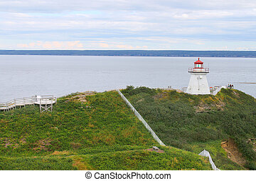 Cape Enrage lighthouse NB, Canada - Lighthouse on cliff of ...