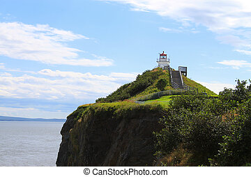 Cape Enrage lighthouse NB, Canada - Lighthouse on cliff of...