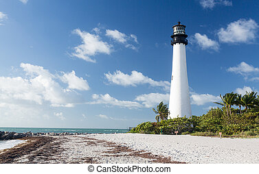 Cape Florida lighthouse in Bill Baggs - Cape Florida ...