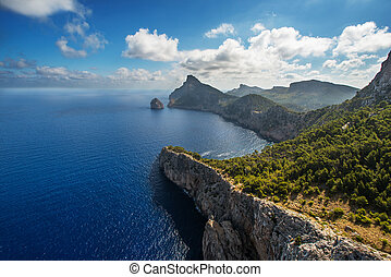 Cape Formentor in the coast of Majorca Spain