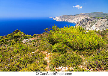 Cape Keri panorama - Beautiful vibrant landscape on top of...