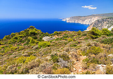 Cape Keri Zakynthos - Beautiful vibrant landscape on top of...