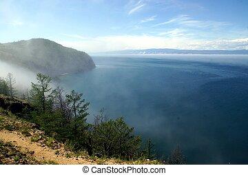 Cape Khoboy on the island of Olkhon, Lake Baikal, Russia