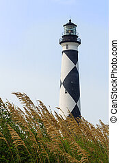 Cape Lookout Lighthouse and Sea Oats - The Cape Lookout...