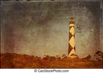 Cape Lookout NC - Textured image of Cape Lookout lighthouse...