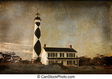 Cape Lookout - Textured image of Cape Lookout lighthouse on...
