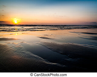 Cape Lookout sunset at low tide