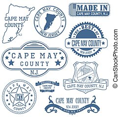 Cape May county, NJ, generic stamps and signs - Cape May ...