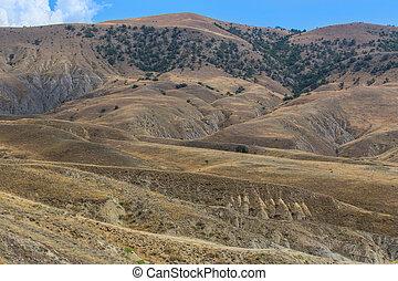 Cape Meganom nature reserve on the Crimean peninsula
