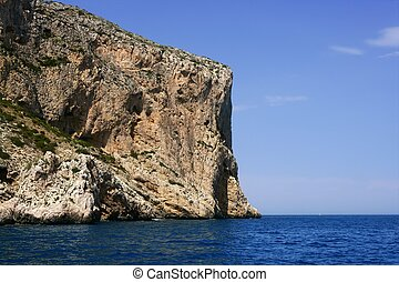 Cape Nao in Mediterranean Sea Spain on blue summer day