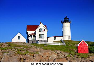 """Cape Neddick (""""Nubble"""") Lighthouse, Maine"""