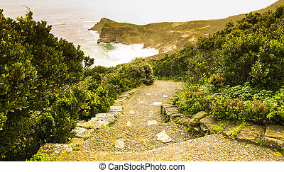 Cape Of Good Hope Pathway - Pathway at dusk along the Cape...