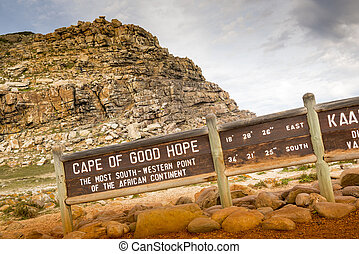Cape of Good Hope Sign - Sign for the Cape of Good Hope,...