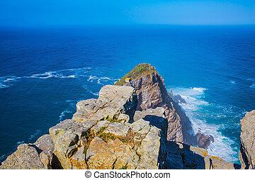 Cape of Good Hope. Cape on the Cape Peninsula south of Cape...