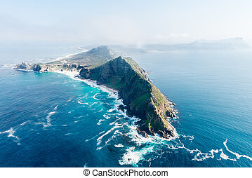 Cape Point and Cape of good hope (South Africa) aerial view...