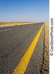 Cape roads #1 - Desolate road just outside Colesberg, South...