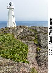 Cape Spear lighthouse, rocky path