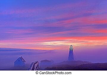 Cape Spear - Foggy sunrise at Cape Spear.