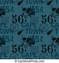 Cape town abstract vintage design pattern