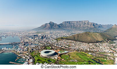 Cape Town (aerial view from a helicopter)
