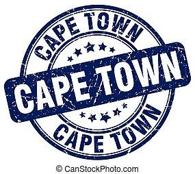 Cape Town blue grunge round vintage rubber stamp