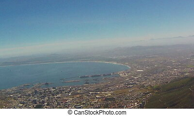 Cape Town City Bowl as seen from Table Mountain National...