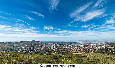 Cape Town city centre (view from the Table Mountain)