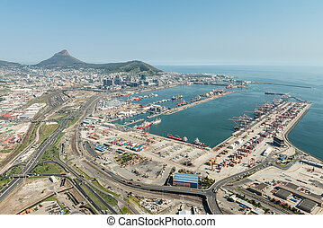 Cape Town Harbor (aerial view)